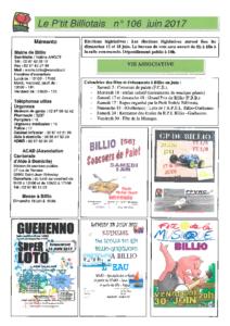 P'tit Billiotais n° 106 juin 2017