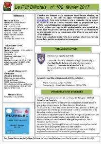 P'tit Billiotais n° 102 février 2017