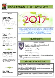 P'tit Billiotais n° 101 janvier 2017