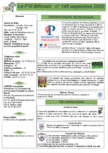 Pti Billiotais n° 145 septembre 2020