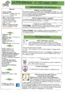 Ptit Billiotais n°151 mars 2021