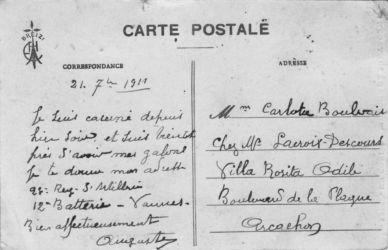 Carte postale 1911 Boulvais