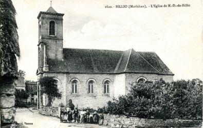 Carte postale église et bourg de Billio