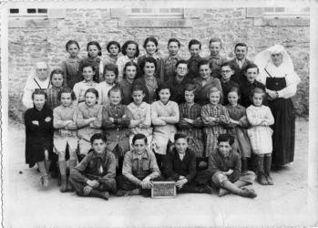 Groupe de classe à Billio 1953
