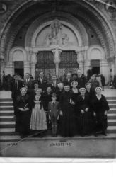 Des habitants de Billio à Lourdes 1947