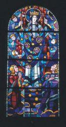 Vitrail de l'église de Billio
