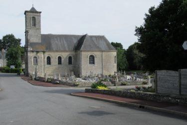 Vue de l'église et du cimetière de Billio